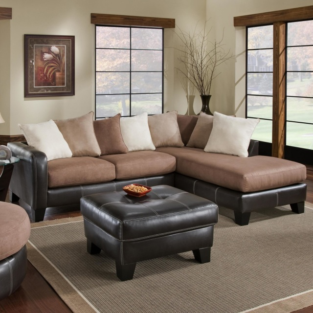 store sectionals mocha truffle sectional