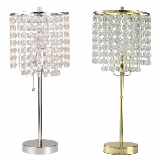 Chandelier Table Lamp Gold Or Silver