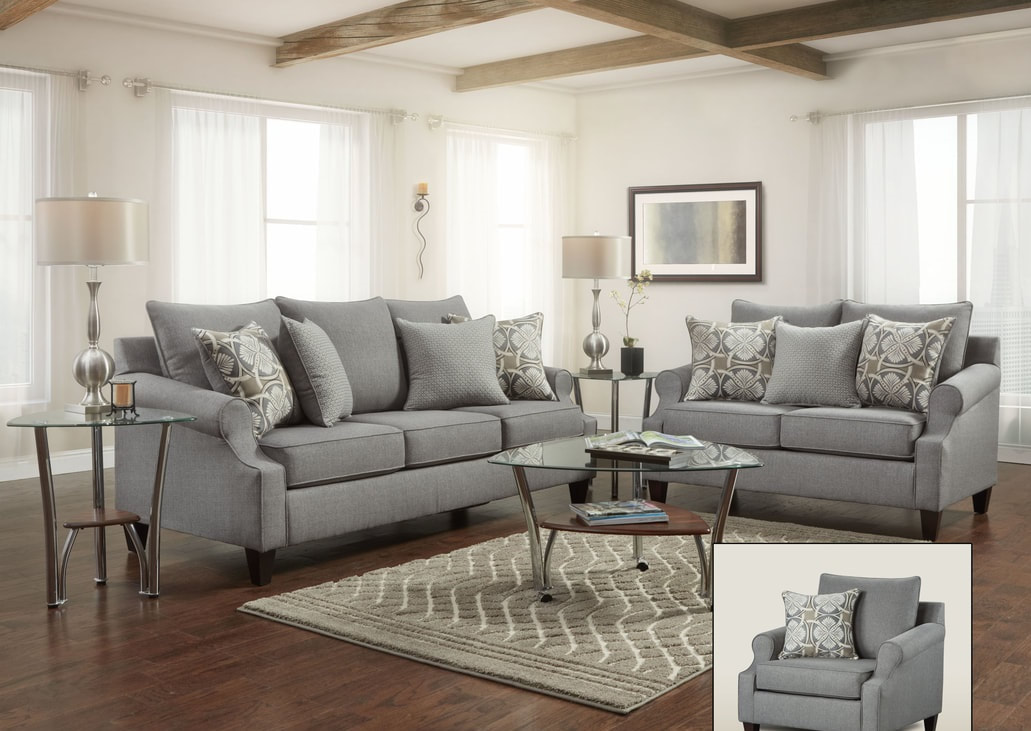 Sensational Bay Ridge Gray Sofa And Loveseat Set Interior Design Ideas Clesiryabchikinfo