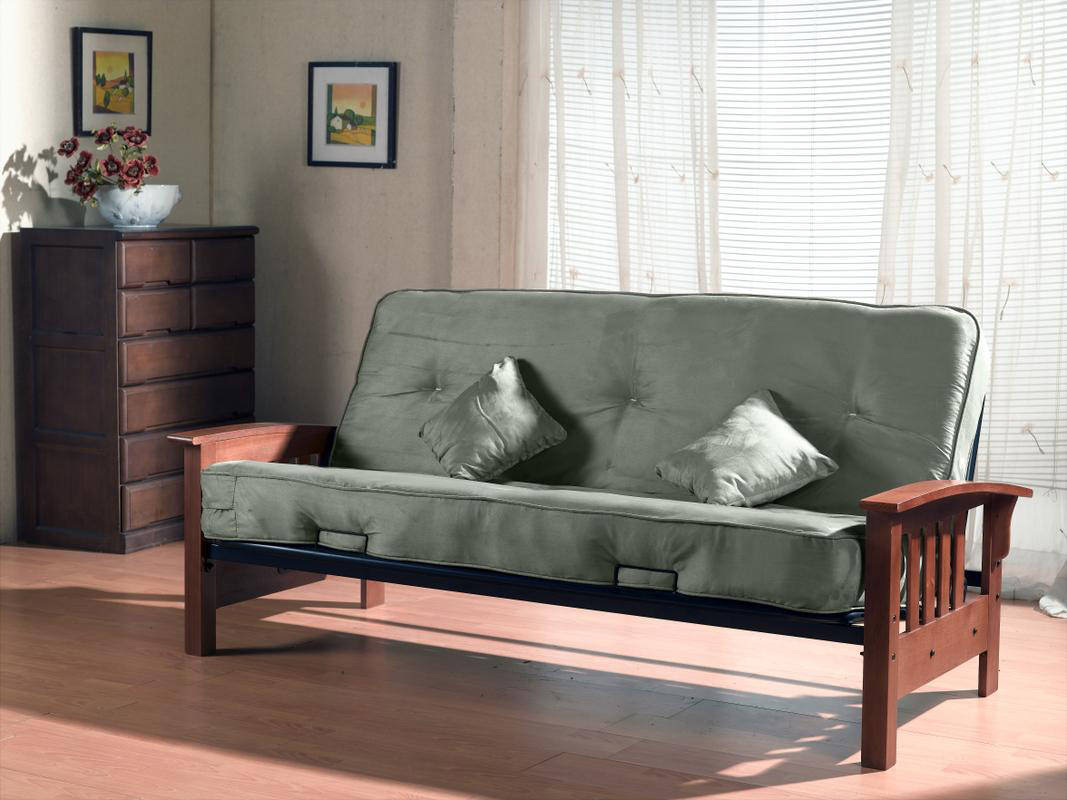 Tulsa Futon Frame With 8 Innerspring Mattress