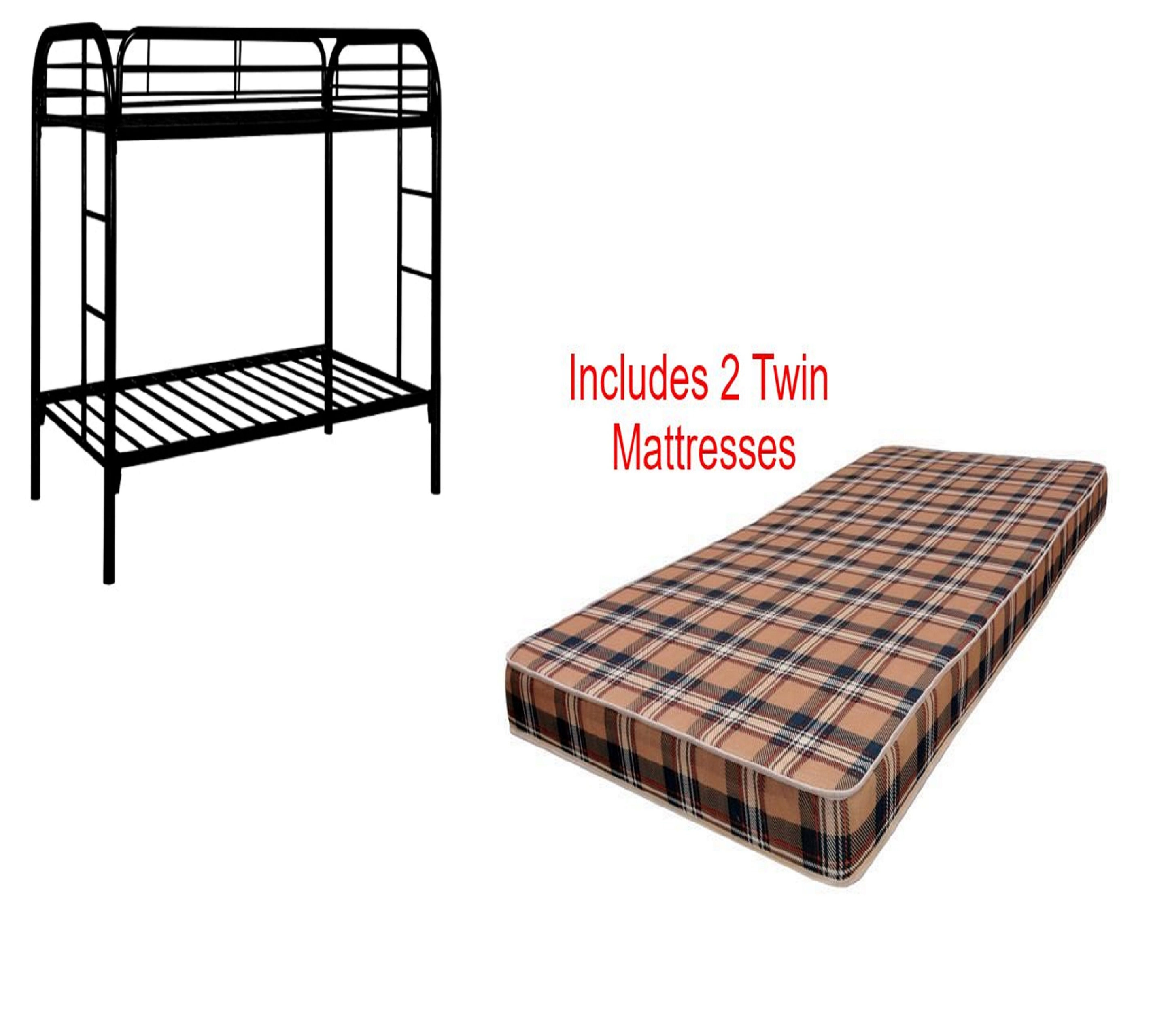 Discount Furniture Store Package 76: Complete Bunk Bed With Mattresses Package Deal