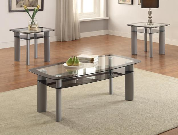 Double Glass Coffee Amp End Table Set