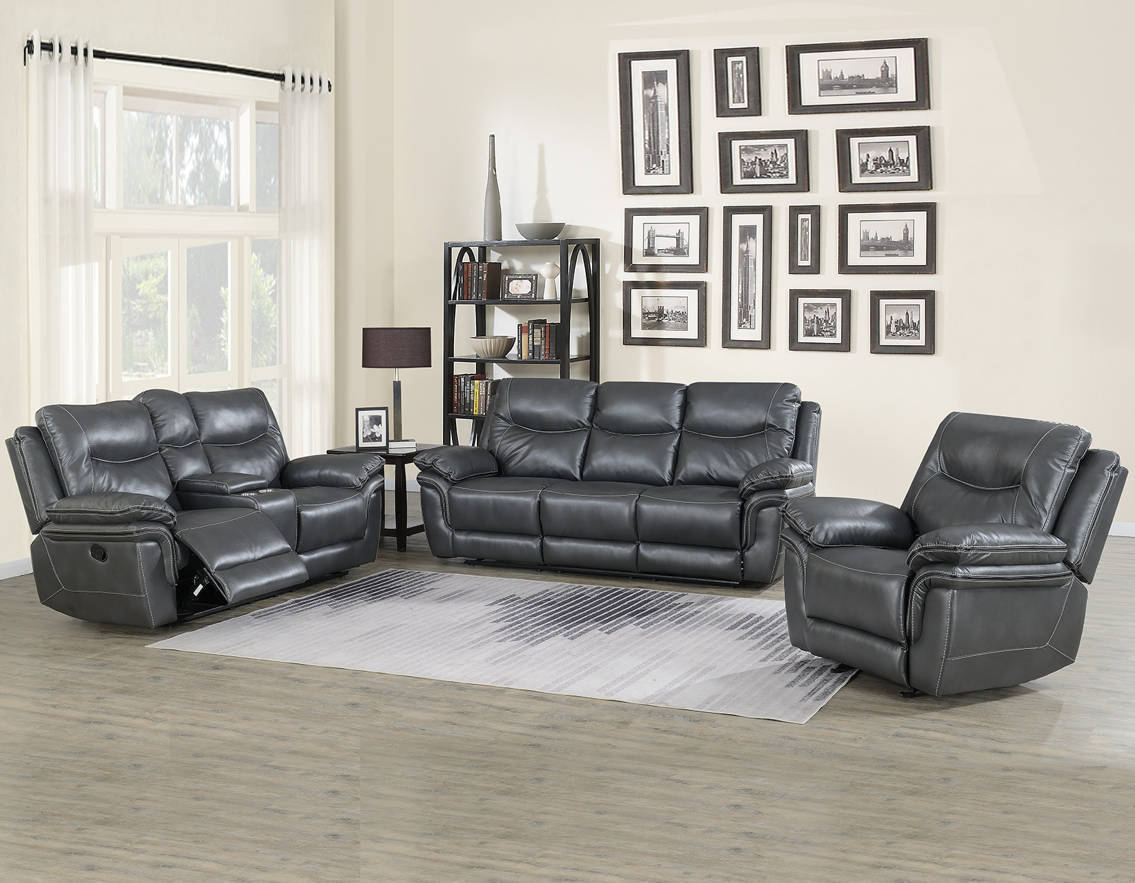 Isabella Gray Reclining Sofa And Loveseat Set