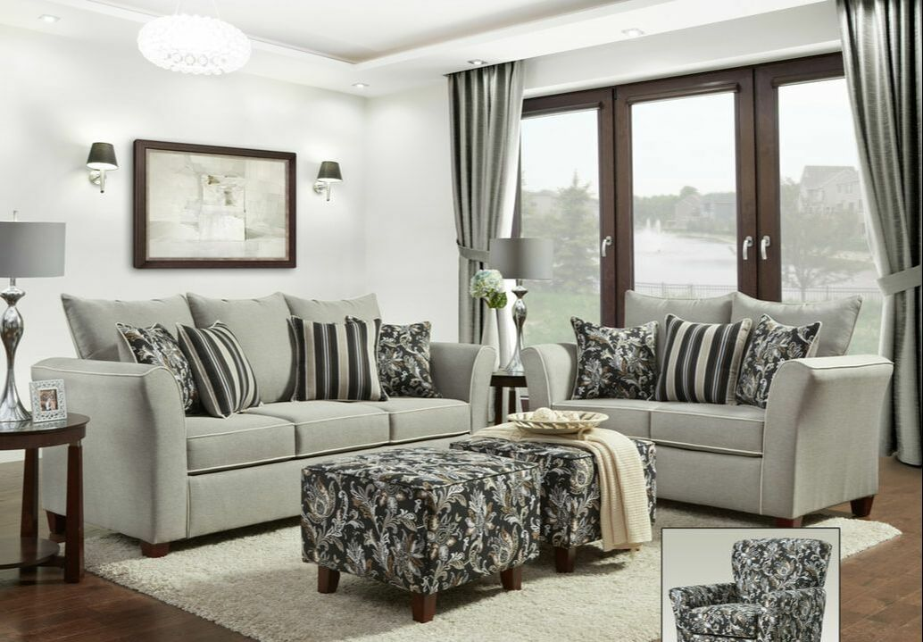Amazing Sadie Gray Sofa And Loveseat Set Interior Design Ideas Clesiryabchikinfo
